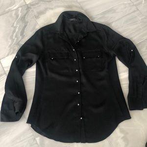 Gorgeous black silk blouse